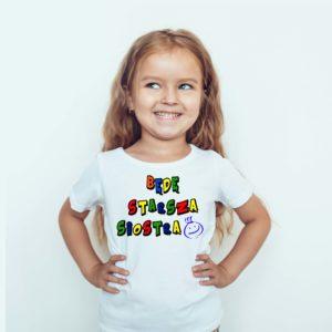 Ubrania dla dzieci / Koszulka z nadrukiem Będę Starsza Siostrą