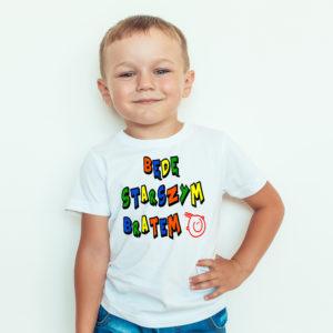 Koszulki dla dzieci. Koszulka dziecięca z nadrukiem będę starszym bratem