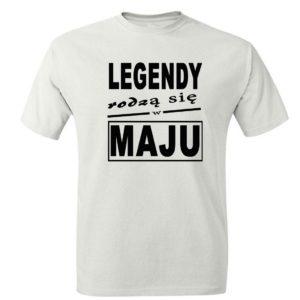 Prezent koszulka męska legendy rodzą się w maju