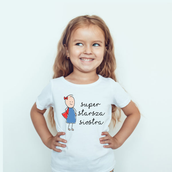 Koszulki dla dzieci / Koszulka dla dzieci z nadrukiem Super Starsza Siostra