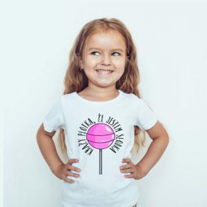 Koszulki dla dzieci / Koszulka z nadrukiem Krąży Plotka ŻE JESTEM SŁODKA