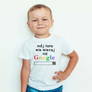 Koszulki dla dzieci / Koszulka z nadrukiem Moj Tata Wie Więcej Niż Google