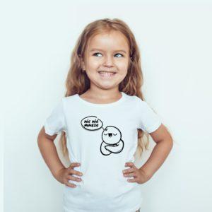 Koszulki dla dzieci / Koszulka dla dzieci z nadrukiem Nic Nie Musze