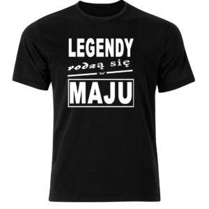 Smieszny prezent koszulka legendy rodzą się w maju