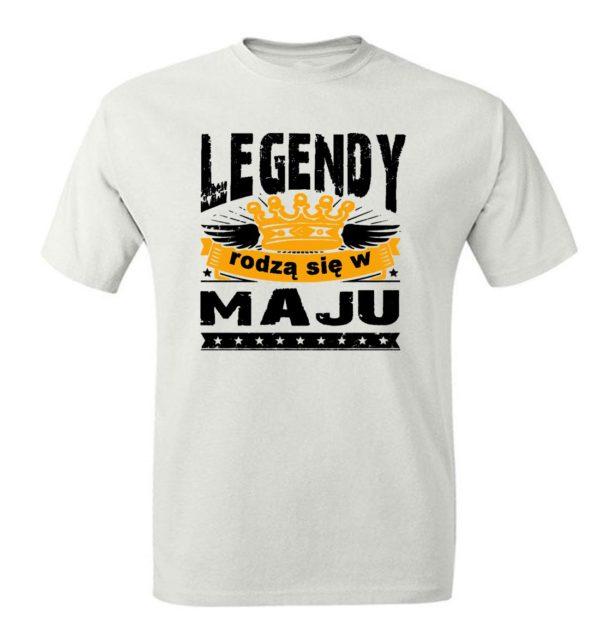 T-shirt męski z nadrukiem prezent legendy rodzą się w maju