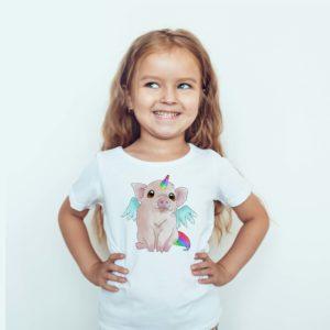 Ubrania dla dzieci / Koszulka Z Nadrukiem Świnkieł
