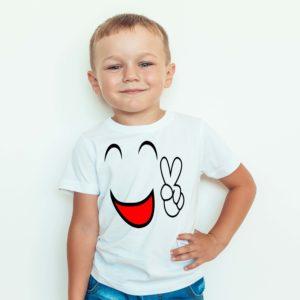 Koszulka dla dzieci / Koszulka dziecięca z nadrukiem / Koszulka Uśmiech