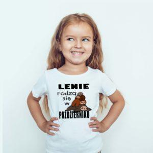 Ubrania dla dzieci / Koszulka dla dzieci z nadrukiem Lenie Rodzą Się W Październiku
