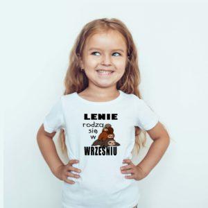Ubrania dla dzieci / Koszulka dla dzieci z nadrukiem Lenie Rodzą Się We Wrześniu