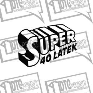 Smieszny prezent urodzinowy, koszulka męska z nadrukiem SUPER 40 LAT