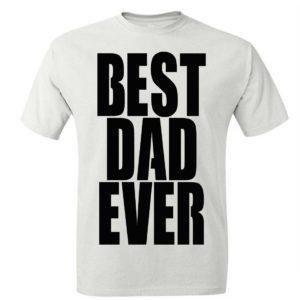 Koszulka męska BEST DAD EVER prezent dla taty