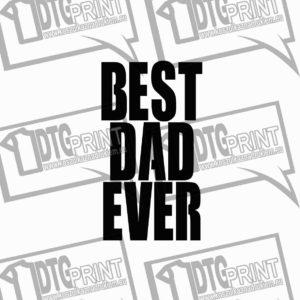 Koszulka męska z nadrukiem BEST DAD EVER prezent dla taty
