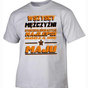 Najlepsi rodzą się w maju koszulka męska prezent