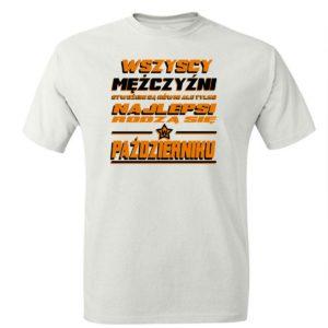 Najlepsi rodzą się w październiku koszulka męska prezent