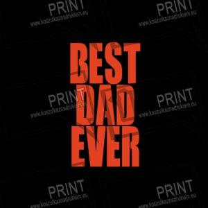 T-shirt męska z nadrukiem BEST DAD EVER prezent dla taty