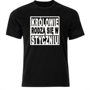 koszulka męska królowie rodzą się w styczniu prezent