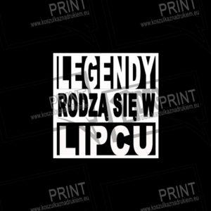 koszulka męska prezent legendy rodzą się w lipcu