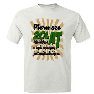 Koszulka prezent Pierwsze 20 Lat Dzieciństwa W Życiu Mężczyzny