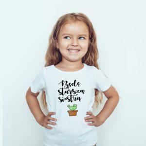 Będę Starsza Siostrą Koszulki Ubrania Dla Dzieci