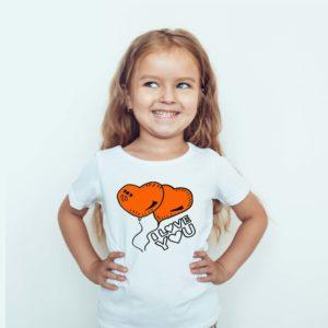 Koszulka Dla Z Nadrukiem Dzieci I Love You