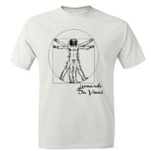 Człowiek Witruwiański - Leonardo da Vinci Koszulka Męska