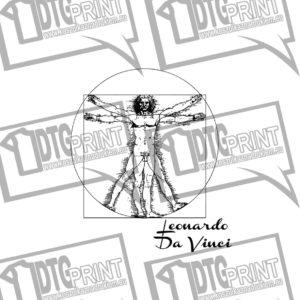 Człowiek Witruwiański - Leonardo da Vinci Koszulka Męska z nadrukiem