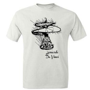 Helikopter Leonardo Da Vinci Koszulka Męska