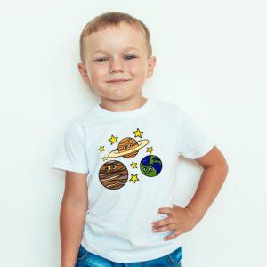 Koszulka Dla Dzieci Z Nadrukiem Planety Jowisz Ziemia Saturn