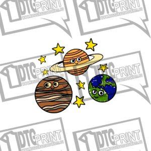 Koszulka Dla Dzieci Z Nadrukiem Planety Jowisz Ziemia Saturn Ubrania dla dzieci