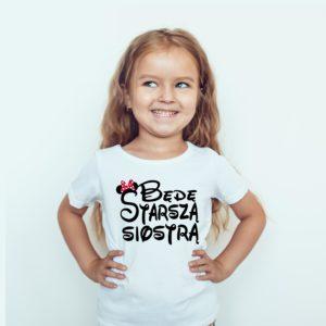 Będę Starszą Siostrą Koszulka Dla Dziewczynki