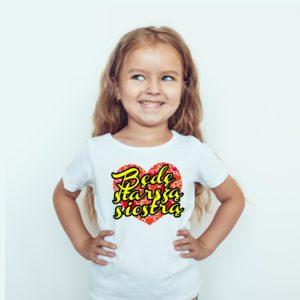 Będę Starsza Siostrą Koszulki Dla Dzieci Ubrania Dla Dzieci