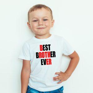 Koszulka Dla Dzieci Best Brother Ever Ubrania Dla Chłopców