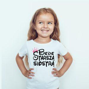 Ubranie Dla Dziewczynki Z Nadrukiem Będę Starszą Siostrą
