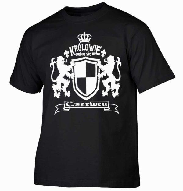 Królowie rodzą się w czerwcu Męska koszulka z nadrukiem