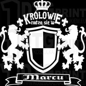 Królowie rodzą się w marcu Męski t-shirt z nadrukiem