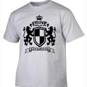 Męska koszulka z nadrukiem Królowie rodzą się w grudniu