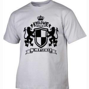 Męska koszulka z nadrukiem Królowie rodzą się w lipcu