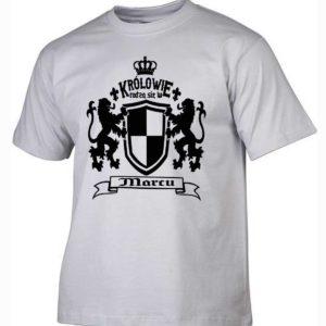 Męska koszulka z nadrukiem Królowie rodzą się w marcu