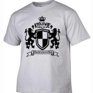 Męska koszulka z nadrukiem Królowie rodzą się w październiku