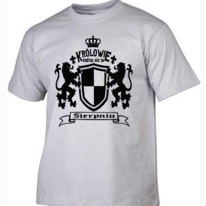 Męska koszulka z nadrukiem Królowie rodzą się w sierpniu