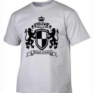 Męska koszulka z nadrukiem Królowie rodzą się w styczniu