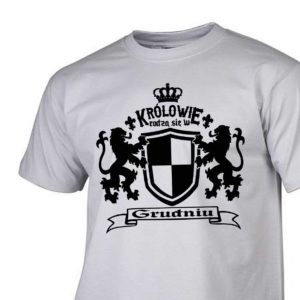 Męski t-shirt z nadrukiem Królowie rodzą się w grudniu