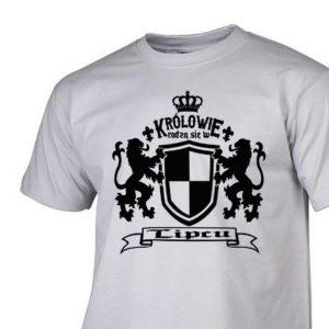 Męski t-shirt z nadrukiem Królowie rodzą się w lipcu