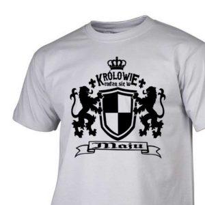 Męski t-shirt z nadrukiem Królowie rodzą się w maju