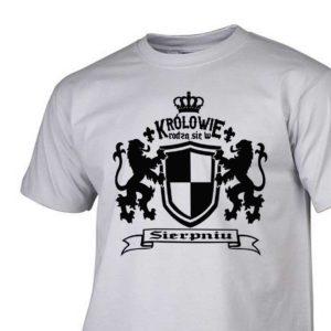 Męski t-shirt z nadrukiem Królowie rodzą się w sierpniu