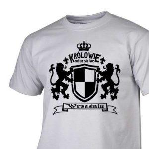 Męski t-shirt z nadrukiem Królowie rodzą się we wrześniu