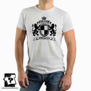 Męska koszulka z nadrukiem królowie rodzą się w marcu śmieszny prezent na urodziny