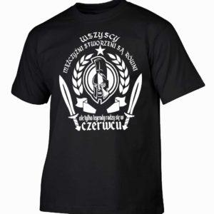 Koszulka męska wszyscy mężczyźni urodziny czerwiec