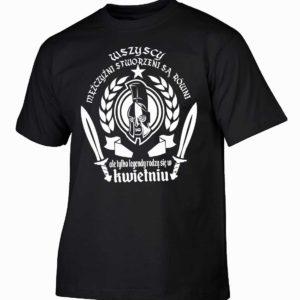 Koszulka męska wszyscy mężczyźni urodziny kwiecień