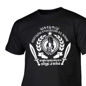 Koszulka męska z nadrukiem wszyscy mężczyźni urodziny styczeń